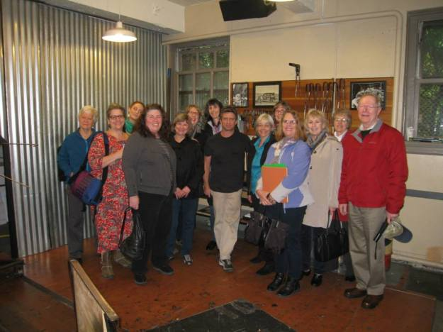 Museum of Glass docents with Dante Marioni (center) in his studio