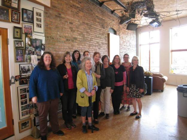 With Ginny Ruffner (in front) in her Ballard studio
