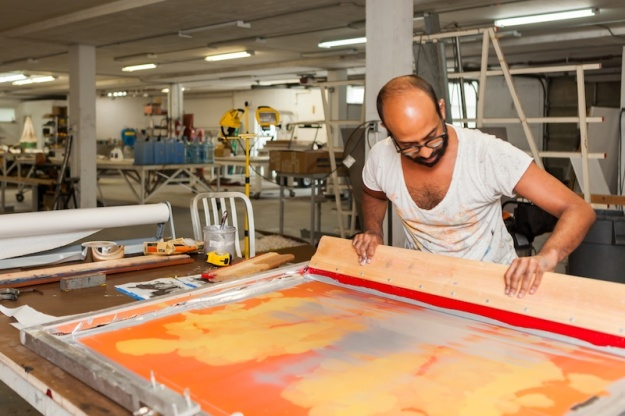 Brendan Fernandes working; Photo courtesy of the artist.