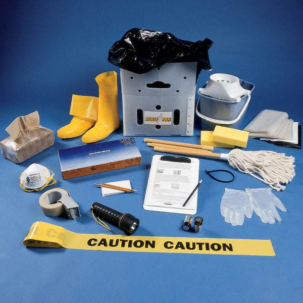 You can build your own emergency kit for flooding and leaks, or purchase vendor pre-made kit like this one from University Products - http://www.universityproducts.com/cart.php?m=product_list&c=166