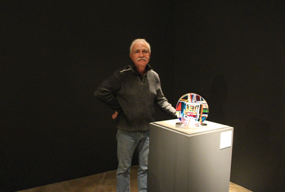 David Huchthausen in his retrospective exhibition.