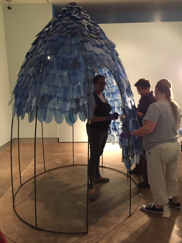 It took a team of 4 people almost 6 hours to install Blue Dome.