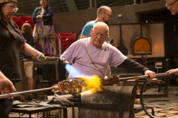 Lino Tagliapietra in the Museum of Glass. Photo courtesy of Museum of Glass.